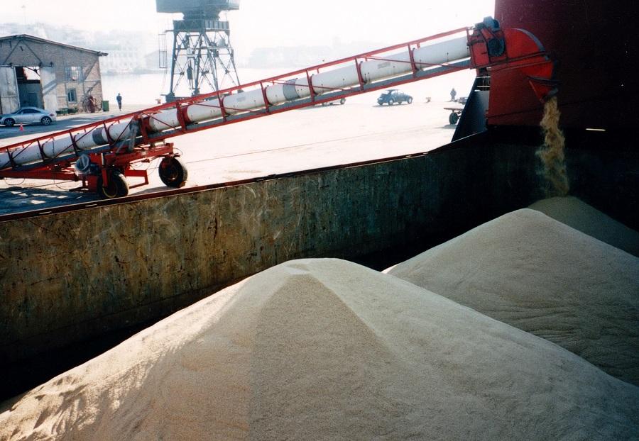 2002 Φόρτωση χύμα ρυζιού cargo στην Θεσσαλονίκη